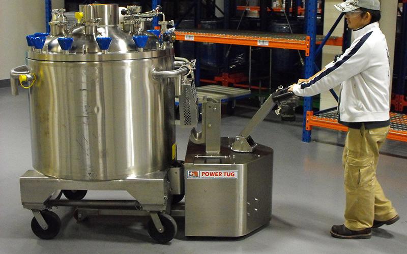 Acero inoxidable PowerTug mover 2.000 kg Farmacéutica recipiente de mezcla en Singapur